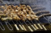image of souvlaki  - Traditional cypriot food - JPG