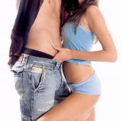 pic of woman couple  - Passion moment between a man and woman - JPG