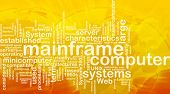 picture of supercomputer  - Word cloud concept illustration of mainframe computer international - JPG