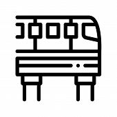 Public Transport Monorail Thin Line Icon. Elevated Monorail Road Train Urban Passenger Transport Lin poster
