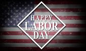 Happy Labor Day Background With Usa Flag poster