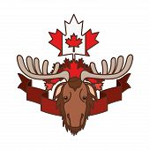 Moose Animal Design, Forest Canada Life Nature And Fauna Theme Vector Illustration poster