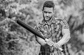Man With Baseball Bat. I Am A Criminal. Outdoor Sport Activity. Hooligan Man Hits The Bat. Bandit Ga poster