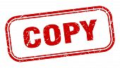 Copy Stamp. Copy Square Grunge Sign. Copy poster