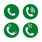 Set Of Phone Icon, Phone Icon Eps10, Phone Icon Vector, Phone Icon Vector Image, Phone Icon Picture  poster