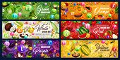 Color Diet Food, Vitamins In Rainbow Colored Fruits, Vegetables And Nuts, Herbs, Spices And Berries, poster