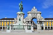 Praca Do Comercio (commerce Square) In Lisbon, Portugal
