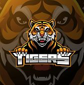 Tiger Face Mascot Logo Design With Text poster