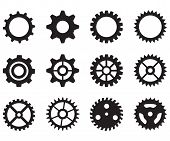 Gear Wheels Icon On White Background. Flat Style. Gear Icon For Your Web Site Design, Logo, App, Ui. poster