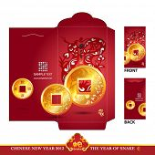 Chinese New Year Red Packet (Ang Pau) Design with Die-cut. Year of Snake. Translation: Kimi Snake Ye