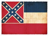 Grunge Flag Of Mississippi (usa)