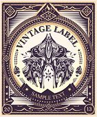 picture of tribal  - Vintage label  - JPG