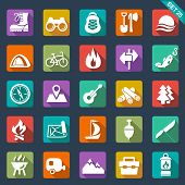 stock photo of tent  - camping icons - JPG