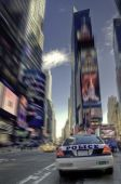 stock photo of nypd  - Police car in Times Square New York - JPG