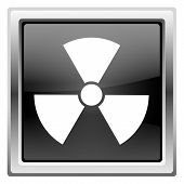 picture of radium  - Metallic icon with white design on black background - JPG