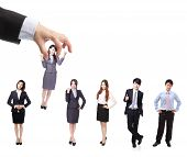 image of lineup  - Human Resources concept - JPG