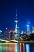 Night Scene Of Beautiful Shanghai