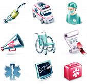 Vector cartoon style icon set. Part 25. Medicine
