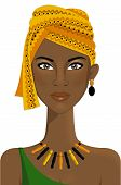 stock photo of turban  - Illustration of an african woman with turban - JPG