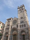 stock photo of genova  - Genoa Cathedral aka Duomo di Genova or Cattedrale di San Lorenzo seat of the Archbishop of Genoa - JPG