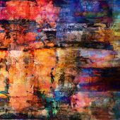 art abstract acrylic and pencil background in rainbow colors