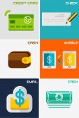 picture of payment methods  - Set of flat design concepts  - JPG