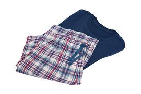 stock photo of pyjama  - Fashionable pyjamas isolated on the white background - JPG