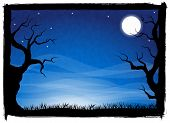 foto of halloween  - vector illustration of a spooky halloween background - JPG
