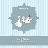 pic of blue animal  - baby shower card - JPG