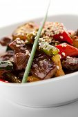 picture of veal  - Veal with Vegetables and Piquant Sauce - JPG