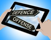 picture of offensive  - Defence Offense Tablet Showing Defending And Tactics - JPG