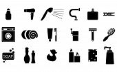 stock photo of bath sponge  - set of icons dedicated to bath  - JPG