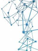 picture of plexus  - glass nerve plexus model on white background - JPG