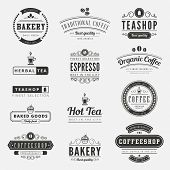 picture of black tea  - Coffee Retro Vintage Labels Logo design vector typography lettering inspiration templates - JPG