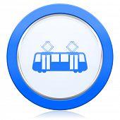 foto of tram  - tram icon public transport sign  - JPG