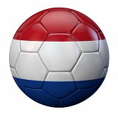 stock photo of holland flag  - Holland flag soccer ball - JPG