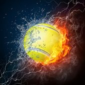 pic of olympiad  - Tennis Ball on Fire and Water - JPG