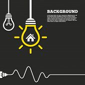 picture of main idea  - Idea lamp with electric plug background - JPG