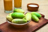 picture of banana  - Latin American fruit called banana passionfruit  - JPG
