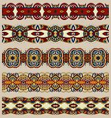 Постер, плакат: seamless ethnic floral paisley stripe pattern