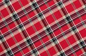 pic of asymmetric  - Red and black plaid print as background - JPG