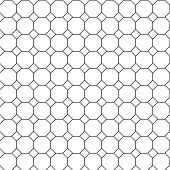 stock photo of octagon  - Black and White seamless repeating octagon pattern - JPG
