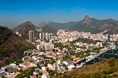 picture of olympic mountains  - Skyline of Rio de Janeiro with Corcovado - JPG