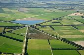 picture of intersection  - Aerial of complex intersection amid cropping farms in Canterbury South Island - JPG