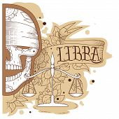 stock photo of libra  - Page astrological calendar - JPG