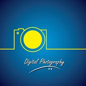 picture of line  - line vector icon of digital camera - JPG