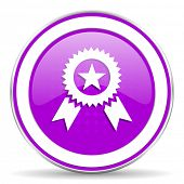 stock photo of prize  - award violet icon prize sign