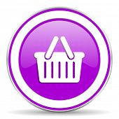 pic of cart  - cart violet icon shopping cart symbol