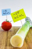 picture of leek  - Negative calorie food - JPG