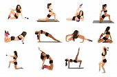 pic of contortionist  - Woman exercising collage  - JPG